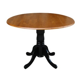 Round 42-inch Drop-leaf Table
