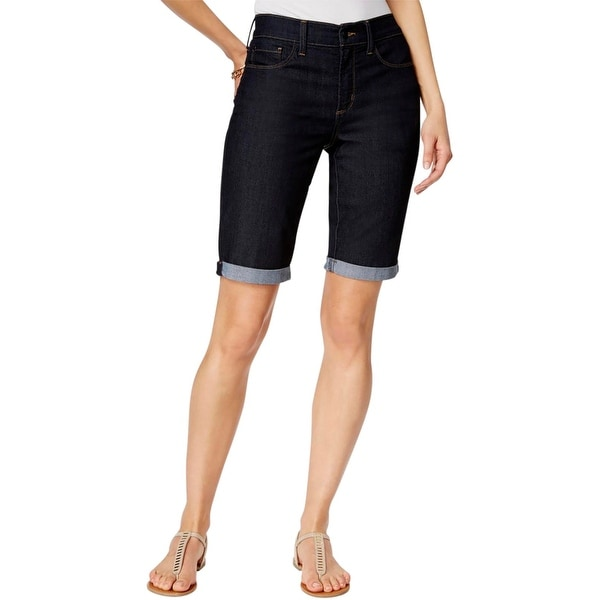 738ce65d Shop NYDJ Womens Bermuda Shorts Cuffed Denim - Free Shipping On ...