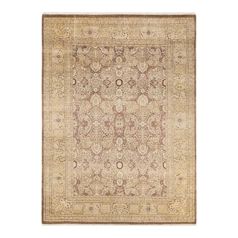 """Mogul, One-of-a-Kind Hand-Knotted Area Rug - Brown, 6' 2"""" x 8' 6"""" - 6'2"""" x 8'6"""""""
