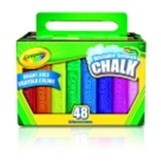 Crayola Non-Toxic Washable Sidewalk Chalk, 4.12 L x 0.75 Sq. in.