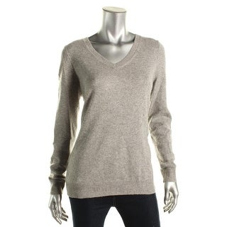 Private Label Womens Cashmere Long Sleeves V-Neck Sweater