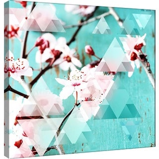 """PTM Images 9-101210  PTM Canvas Collection 12"""" x 12"""" - """"Crystalized Cherry Blossoms"""" Giclee Cherry Blossoms Art Print on Canvas"""