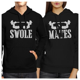 Swole Mates Black Matching Hoodies Pullover Gift For Fitness Couple