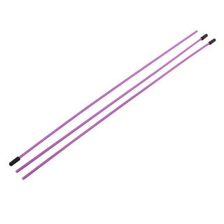 3 Pcs 3mm x 1.5mm Purple Plastic Antenna Pipe Receiver Aerial for RC Model Car