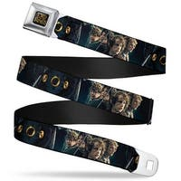 The Lord Of The Rings Full Color Black Gold 4 Hobbits Scene 3 Rings Eye Of Seatbelt Belt