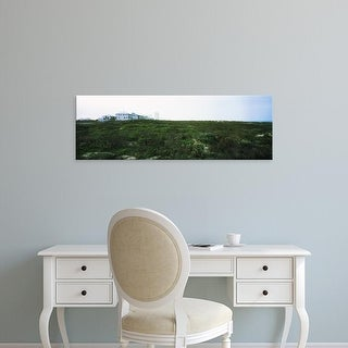Easy Art Prints Panoramic Images's 'Building on a hill, South Padre Island, Texas, USA' Premium Canvas Art