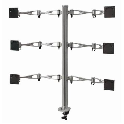 Cotytech DM-61A3-C Six Monitor Desk Mount Full Swing