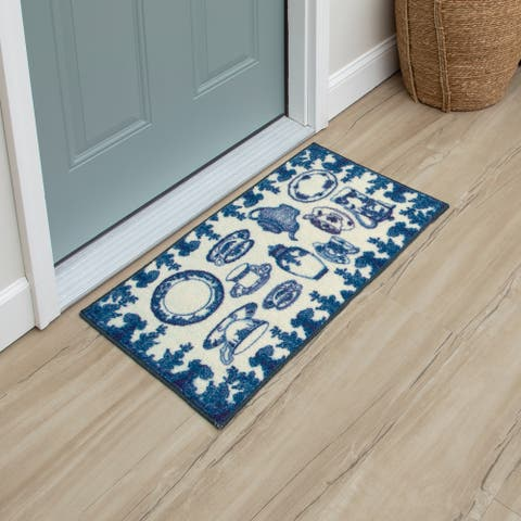Mohawk Home Delicate Blues Kitchen Mat Scatter Accent Rug