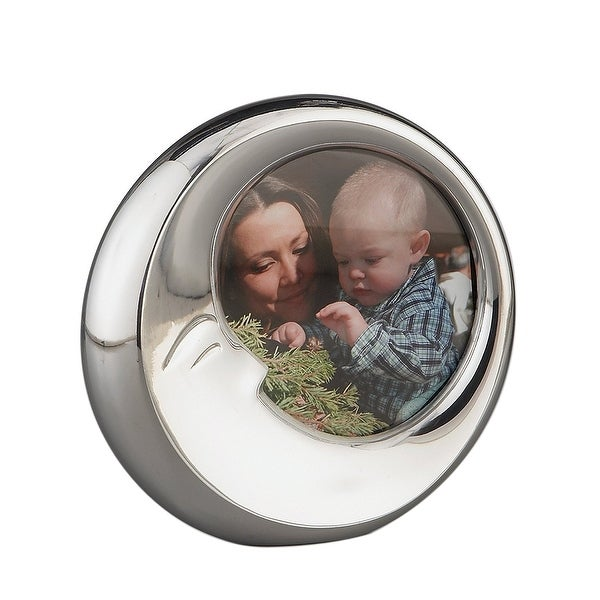 Nambe Baby Sleeping Moon 4 Inch Stainless Steel Picture Frame