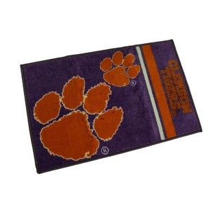 Clemson University Tigers 20 X 30 Tufted Non-Skid Officially Licensed Bath Rug - Purple