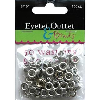 "Eyelet Outlet Eyelets & Washers -3/16"", 50 Eyelets, 50 Washers"