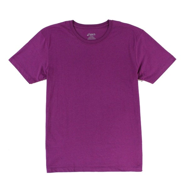 bf1e090e Asics NEW Purple Plum Mens Size Large L Crewneck Short Sleeve Tee T-Shirt