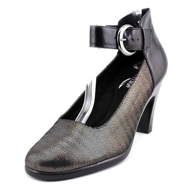 Aerosoles Impressive Women Round Toe Leather Black Heels