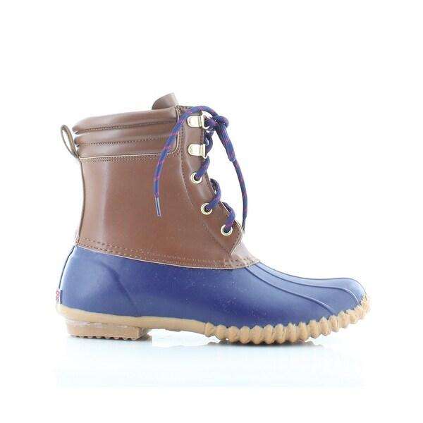 American Living Lyndsey Women's Boots Tan/Navy - 9
