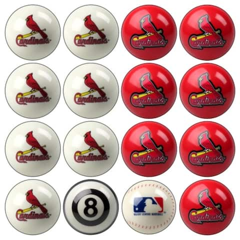 MLB St. Louis Cardinals Baseball Billiard Balls Complete Set of 16 Balls - White