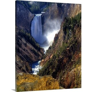 Premium Thick-Wrap Canvas entitled Lower Yellowstone Falls, Yellowstone National Park, Wyoming
