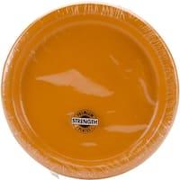 "Dinner Plates 8.75"" 24/Pkg-Pumpkin Spice"