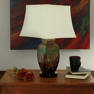 Sunnydaze Indoor Outdoor Multi Colored Ceramic Table Lamp 23 Inch Tall