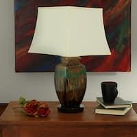 Sunnydaze Indoor-Outdoor Multicolored Ceramic Table Lamp - Electric - 23-Inch