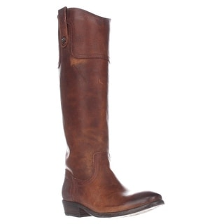 FRYE Carson Riding Button Western Tall Boots, Cognac