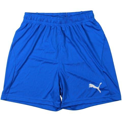 Puma Boys Shorts Fitness - Electric Blue Lemonade-White - XL