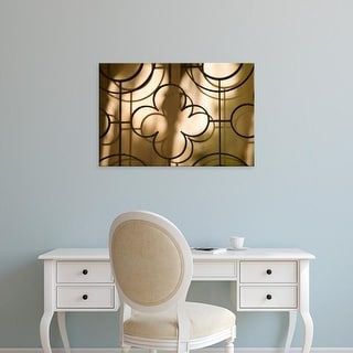 Easy Art Prints John & Lisa Merrill's 'Wrought Iron Grill And Reflections' Premium Canvas Art