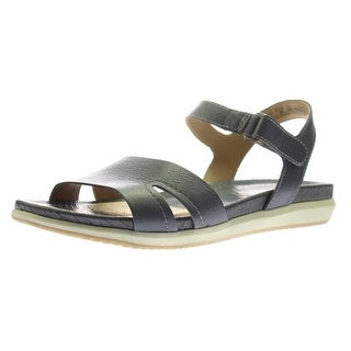 Naturalizer Womens Selma Leather Cut-Out Flat Sandals