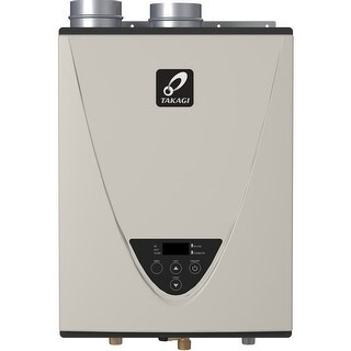 Takagi T-H3J-DV-NG TH3 Series 160000 BTU Direct Vent Whole House Natural Gas Tankless Water Heater - Natural Gas - N/A