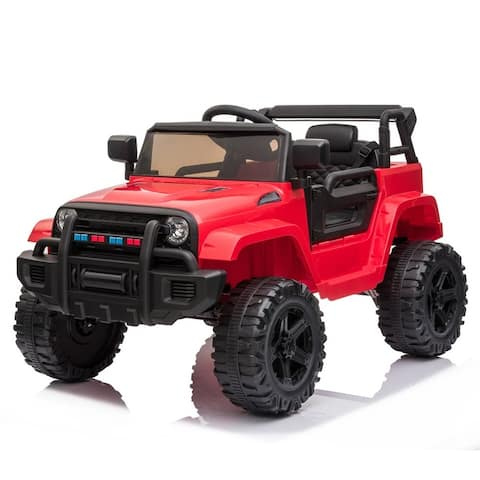 12V Electric Kids Ride On Car with Remote Control 3 Speeds, MP3 player, LED lights