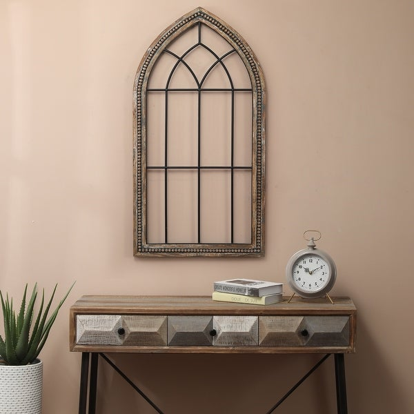 Wood and Metal Cathedral Wall Decor. Opens flyout.