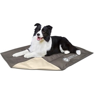 "Taupe - American Kennel Club Solid Reversible Cooling Mat 26""X20"""