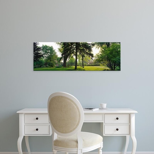 Easy Art Prints Panoramic Images's 'Trees in a park, Adams Park, Wheaton, Illinois, USA' Premium Canvas Art