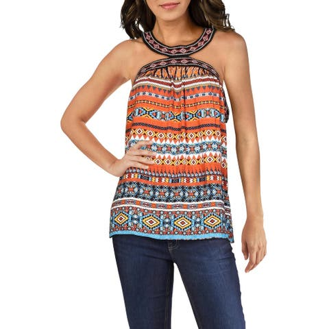 Laundry by Shelli Segal Womens Top Printed Strapless - Spicy Orange