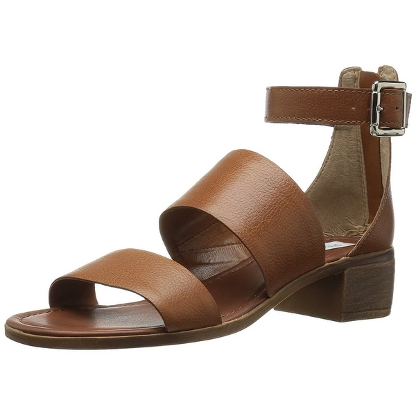 Steve Madden Womens Daly Leather Open Toe Casual Strappy Sandals