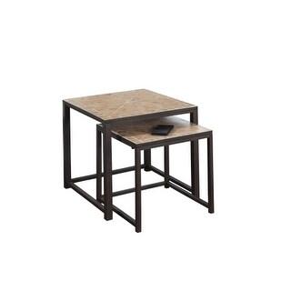 Monarch Specialties 2 piece nesting table set VII 2 Piece Nesting Console Table Set
