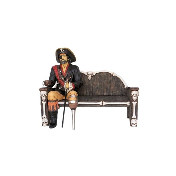 Christmas at Winterland WL-PIRATE-SIT Halloween 4.5 Foot Tall Seated Pirate Statue - Bench Not Included
