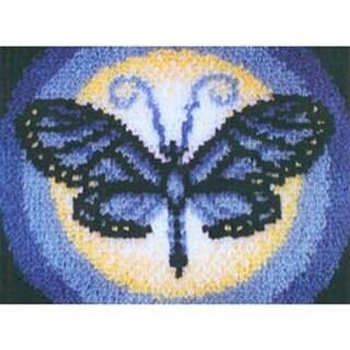 """Butterfly Moon - Wonderart Latch Hook Kit 15""""X20"""""""