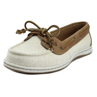 Sperry Top Sider Firefish Nubby Women Round Toe Canvas Tan Loafer