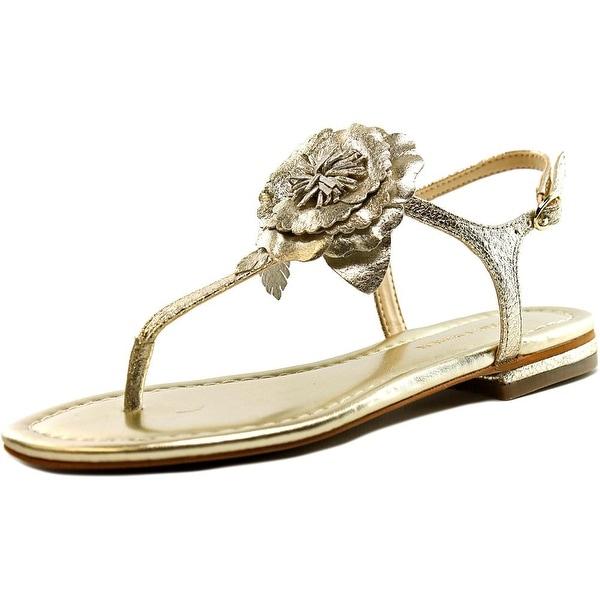 ece620101 Shop Marc Fisher Elysone 2 Women Open Toe Leather Gold Thong Sandal ...