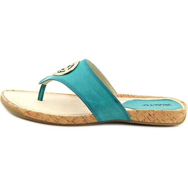 Rialto Womens Calista Open Toe Casual T-Strap Sandals - 8