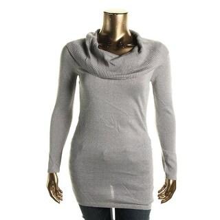Energie Womens Illiana Cowl Metallic Sweater