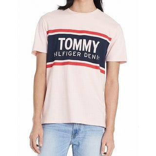 Link to Tommy Hilfiger Mens T-Shirts Pink Size 2XL Crewneck Logo Graphic Tee Similar Items in Big & Tall