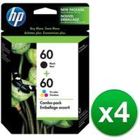 HP 60 Black & Tri-color Original 2 Ink Cartridges (N9H63FN)(4-Pack)