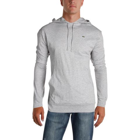 Lacoste Mens Hoodie Heathered Long Sleeves