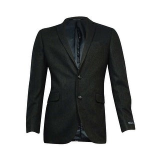 Bar III Men's Herringbone Slim-Fit Sports Jacket (Olive Black, 40L) - olive black - 40l