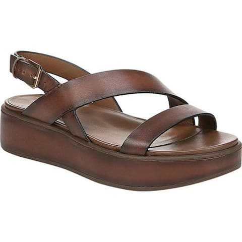 Naturalizer Women's Charlize Strappy Sandal Lodge Brown Leather