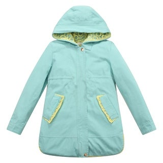 Richie House Girls' Hooded Jacket With Contrasting Trims And Lining