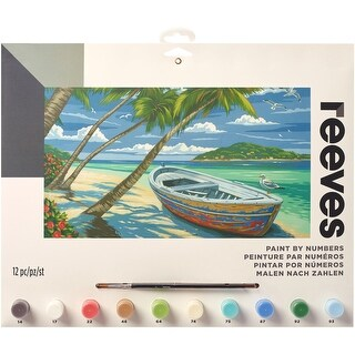 """Paint By Number Kit 12""""X16""""-Tropical Beach"""