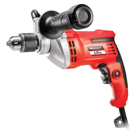 Powerbuilt 7 Amp 1/2-in Variable Speed Hammer Drill with Storage Case - 240069