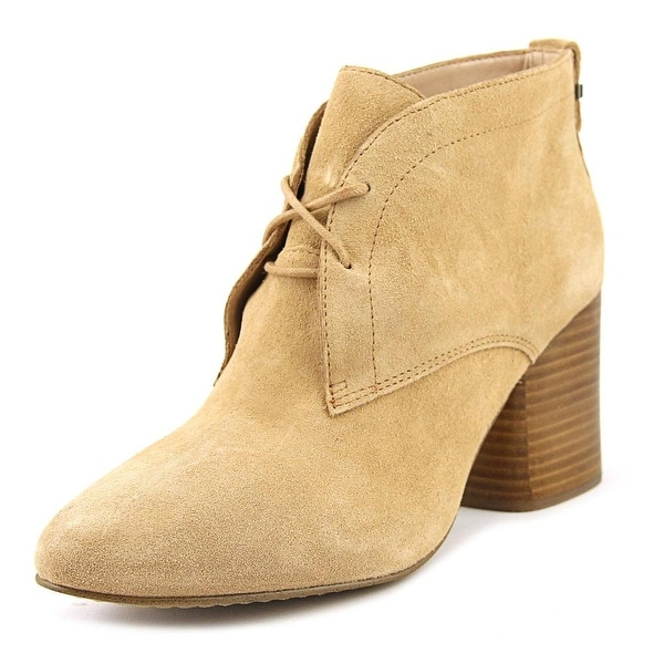 French Connection Dinah Women Round Toe Suede Tan Ankle Boot